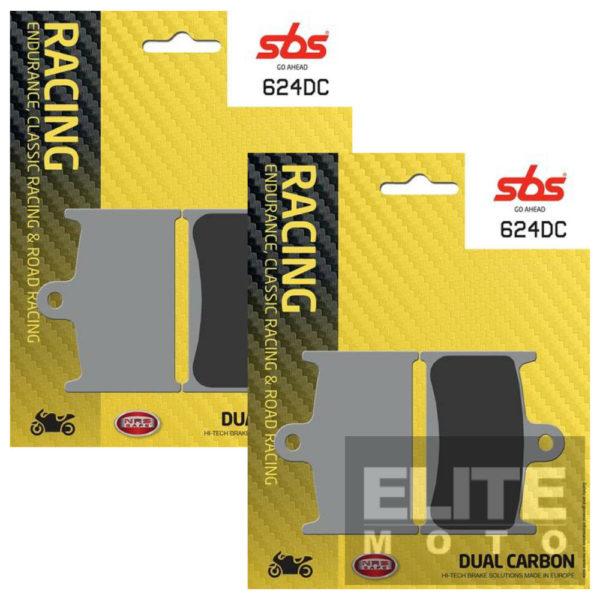 SBS 624DC Dual Carbon Front Brake Pads