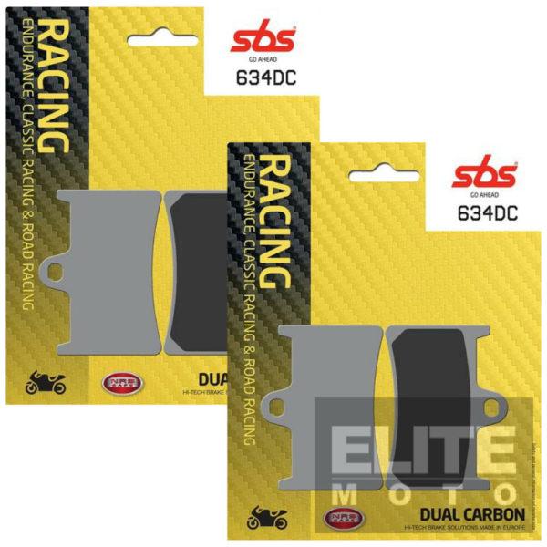 SBS 634DC Dual Carbon Front Brake Pads