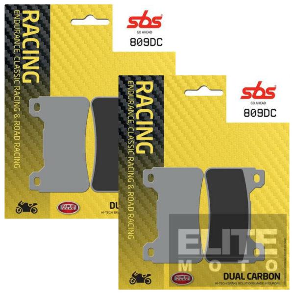 SBS 809DC Dual Carbon Front Brake Pads