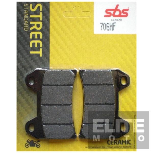 SBS 706HF Ceramic Front Brake Pads