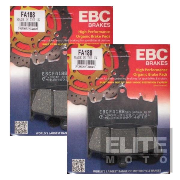 EBC FA188 Organic Front Brake Pads