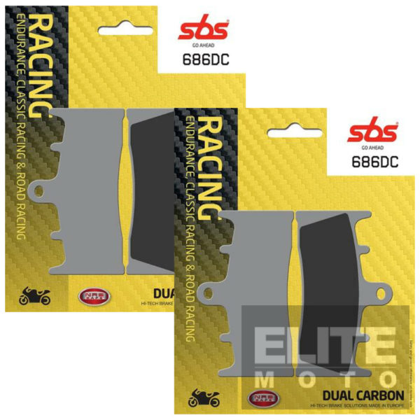 SBS 686DC Dual Carbon Front Brake Pads