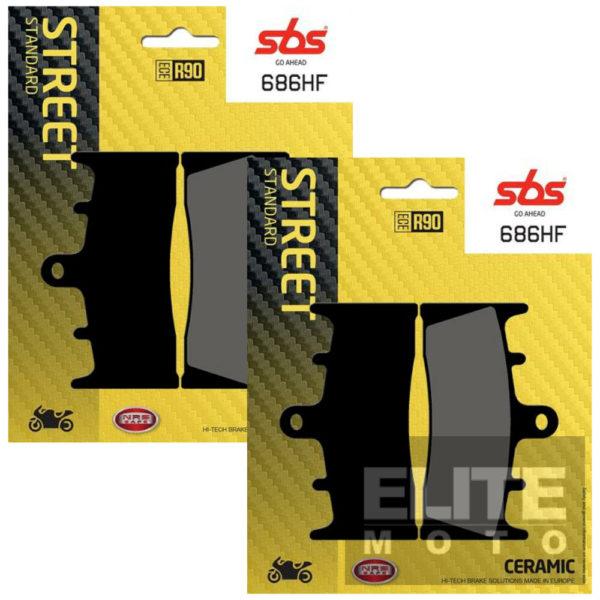 SBS 686HF Organic Front Brake Pads