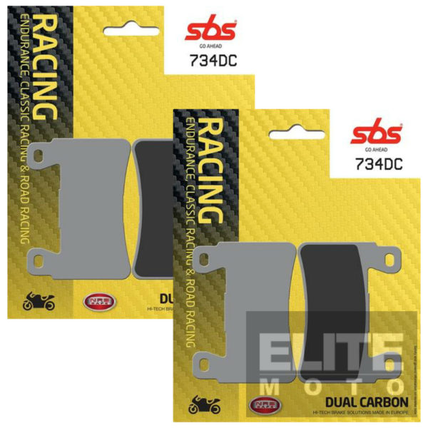 SBS 734DC Dual Carbon Front Brake Pads