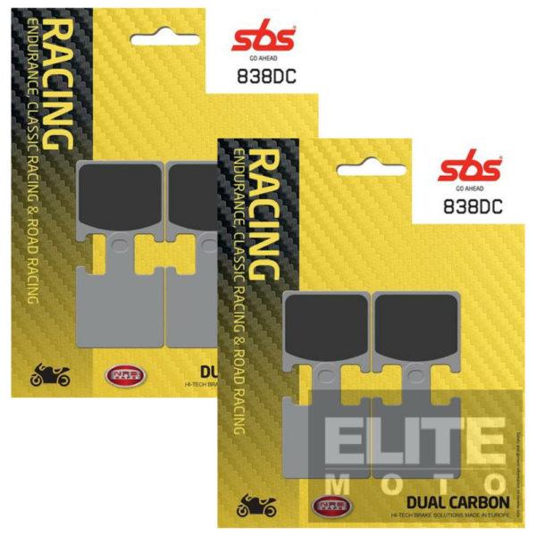 SBS 838DC Dual Carbon Front Brake Pads