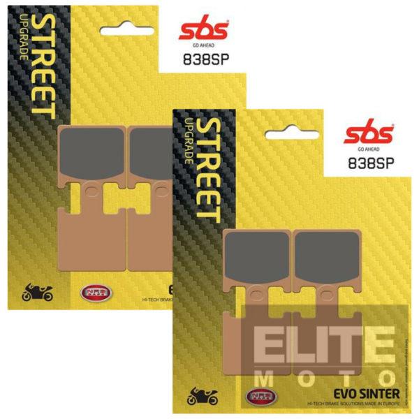 SBS 838SP Evo Sinter Front Brake Pads