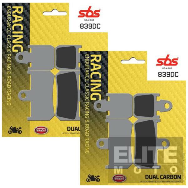 SBS 839DC Dual Carbon Front Brake Pads