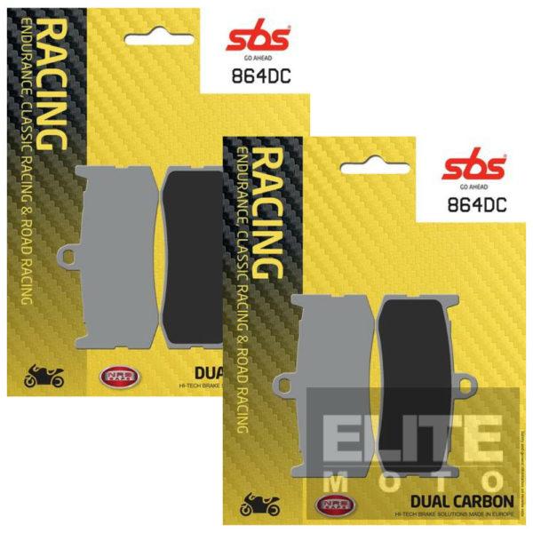 SBS 864DC Dual Carbon Front Brake Pads