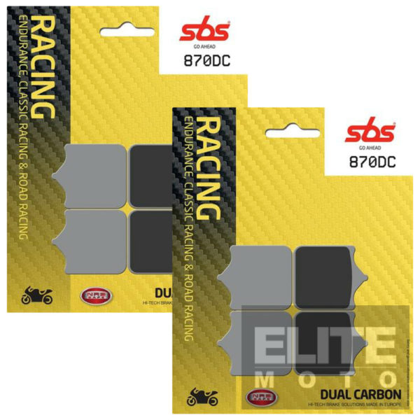 SBS 870DC Dual Carbon Front Brake Pads
