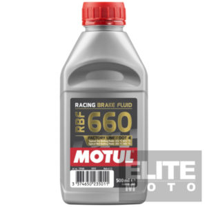 Motul RBF660 Racing Brake Fluid.