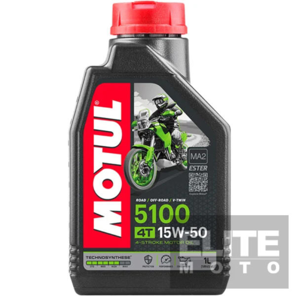 Motul 5100 15w50 Semi-Synthetic Engine Oil - 1 litre